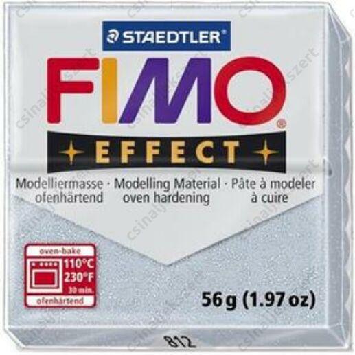 Fimo Effect süthető gyurma 56g Csillámos ezüst / Glitter silver 812