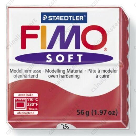 Fimo Soft süthető gyurma 56g Cseresznyepiros / Cherry red 26