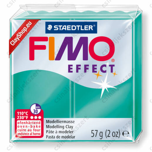 Fimo Effect süthető gyurma 56g Áttetsző zöld/ Transparent green 504