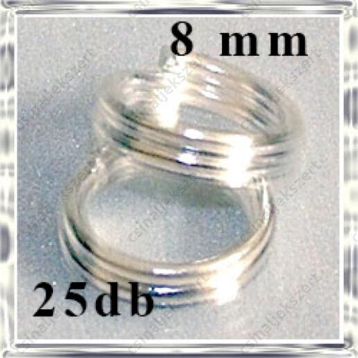ezüstözött dupla szerelőkarika 8mm