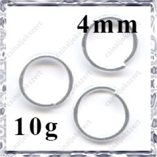 Ezüstözött szerelőkarika 4 mm NIKKELMENTES