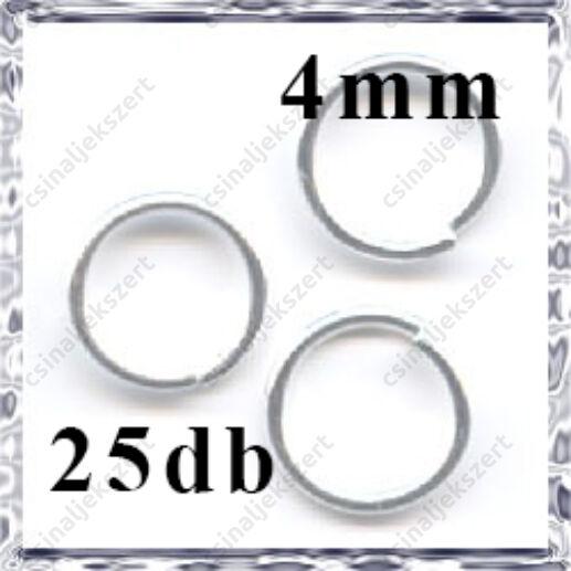 Ezüstözött szerelőkarika 4 mm
