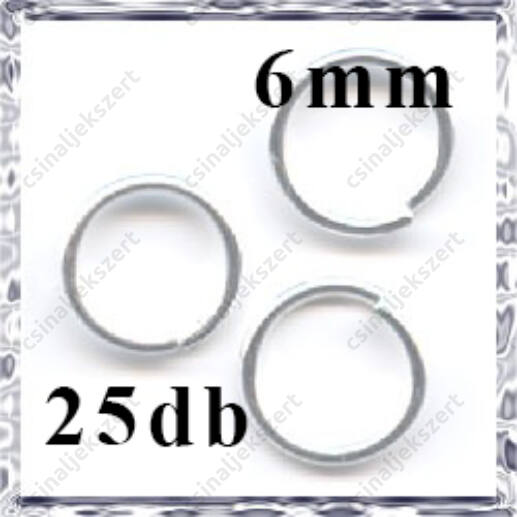 Ezüstözött szerelőkarika 6 mm