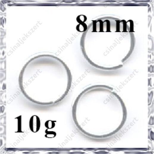 Ezüstözött szerelőkarika 8 mm