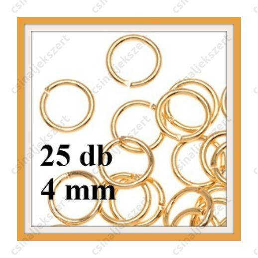 Aranyozott szerelőkarika 4 mm