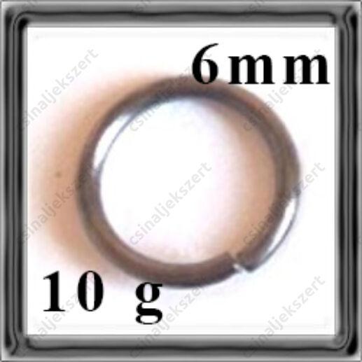 Fekete nikkel szerelőkarika 6mm