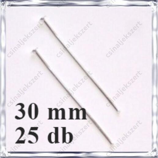 Ródiumos fejes szerelőpálca 30 mm