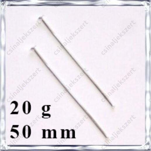 Ródiumos fejes szerelőpálca 50 mm