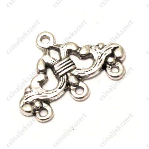 Antikolt ezüst színű indás 1-3 soros távtartó kapcsoló elem