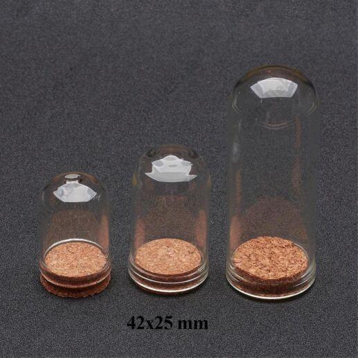 42x25 mm üvegbúra üvegcse parafadugóval