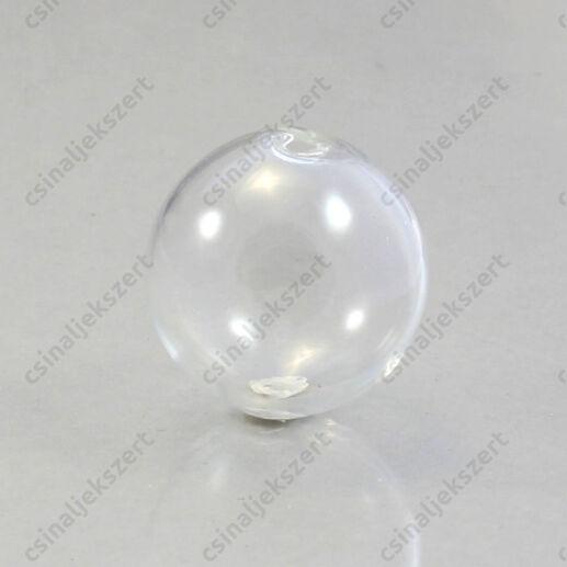 Fűzhető üveg gömb, üvegbúra 25 mm