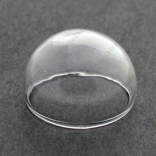 Üvegbúra, félgömb 20 mm