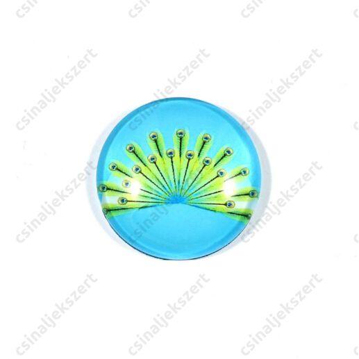 25 mm Pávatoll mintás üveglencse 12