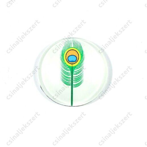 25 mm Pávatoll mintás üveglencse 3