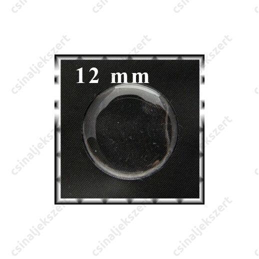 Áttetsző öntapadós matrica kör 12 mm