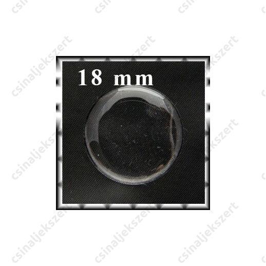 Áttetsző öntapadós matrica kör 18 mm