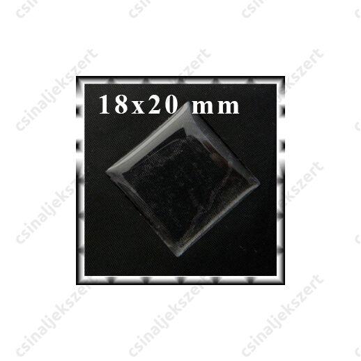 Áttetsző öntapadós matrica téglalap 18x20 mm