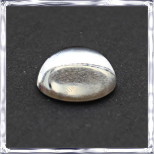 Félgömb üveg lencse 12 mm