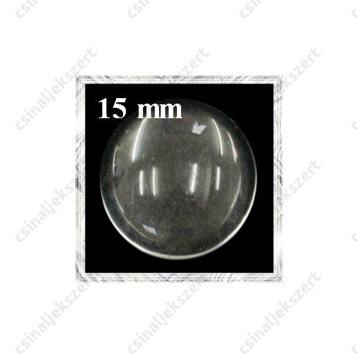 Lapos hátú áttetsző üveg lencse edzett üvegből 15 mm
