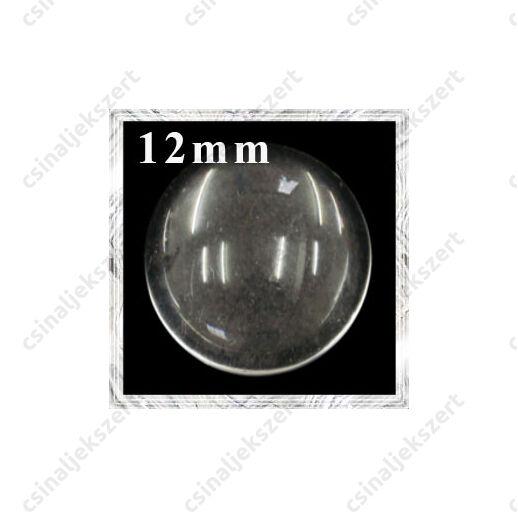 Lapos hátú áttetsző üveg lencse edzett üvegből 12 mm