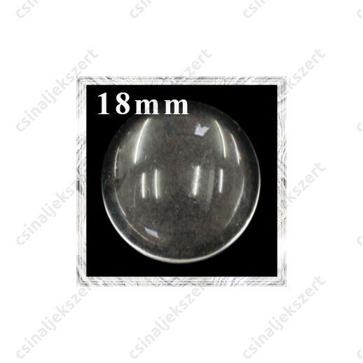 Lapos hátú áttetsző üveg lencse edzett üvegből 18 mm
