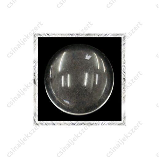 Lapos hátú áttetsző üveg lencse edzett üvegből 14 mm