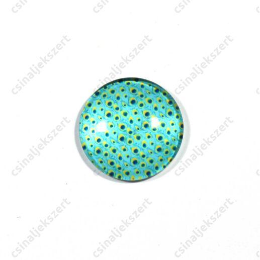 25 mm Pávatoll mintás üveglencse 13