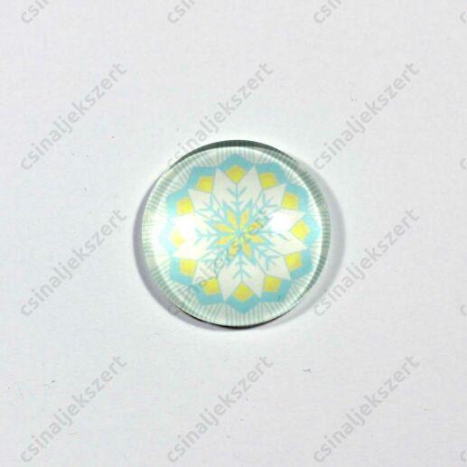 25 mm Pávatoll mintás üveglencse 16