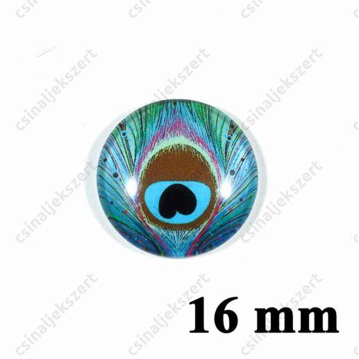 16 mm Pávatoll mintás üveglencse 2