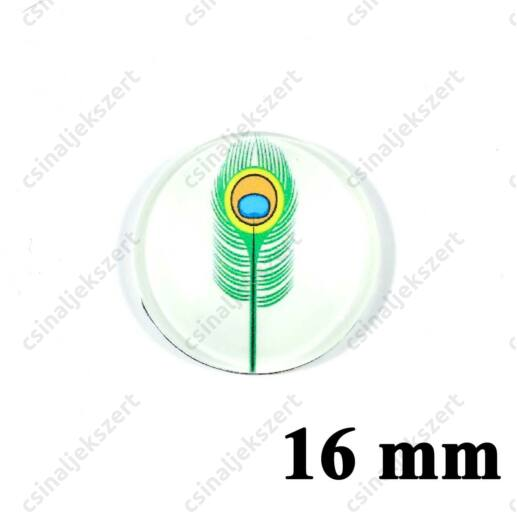 16 mm Pávatoll mintás üveglencse 3