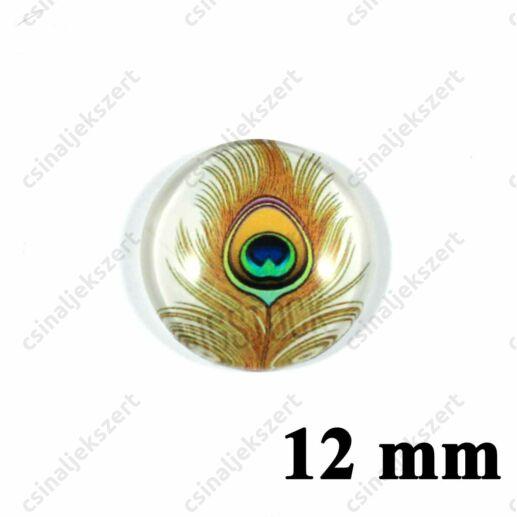 12 mm Pávatoll mintás üveglencse 4