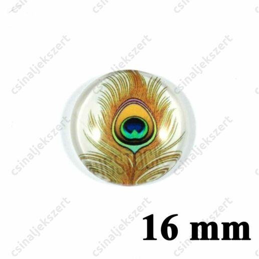 16 mm Pávatoll mintás üveglencse 4