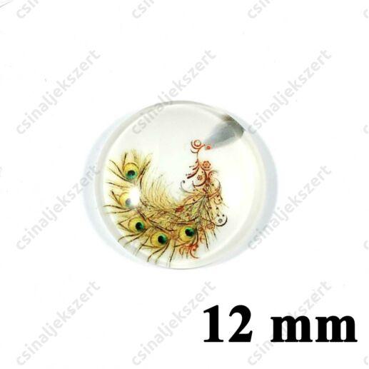 12 mm Pávatoll mintás üveglencse 7
