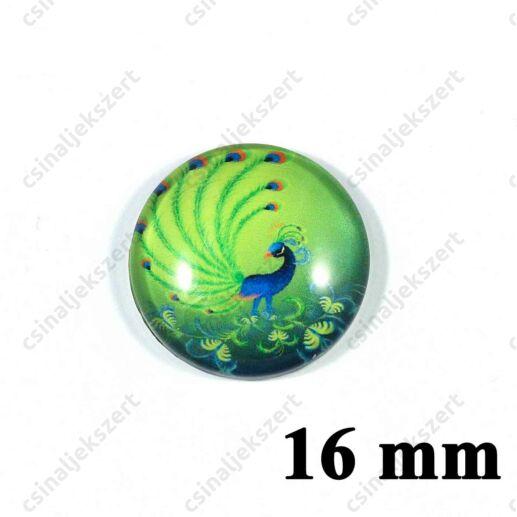 16 mm Pávatoll mintás üveglencse 8