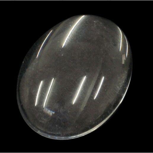 Lapos hátú áttetsző ovális üveg lencse 30x40 mm