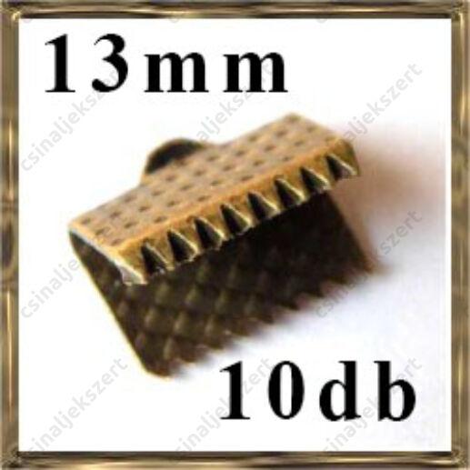 Antikolt bronz szalagvég 13 mm