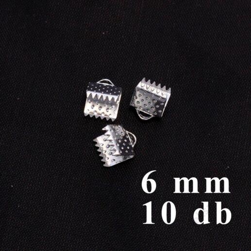 Ezüstözött szalagvég 6 mm