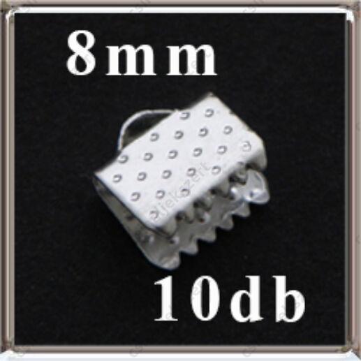 Ezüstözött szalagvég 8 mm