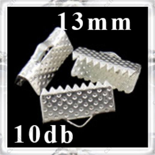 Ezüstözött szalagvég, pöttyös 13 mm