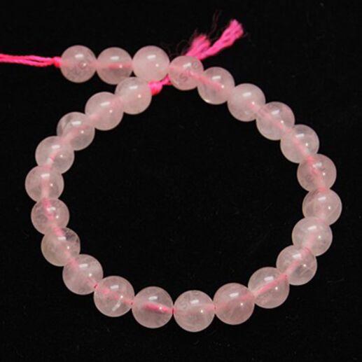 1 szál 6 mm kerek gyöngy Rózsakvarc