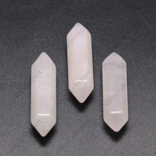 30 mm két csúcsú Rózsakvarc ásványrúd