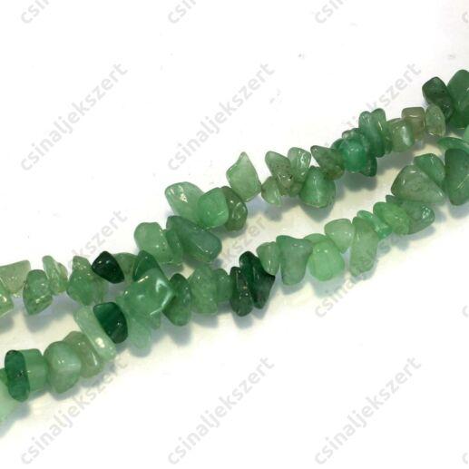 Aventurin zöld ásványgyöngy chips splitter