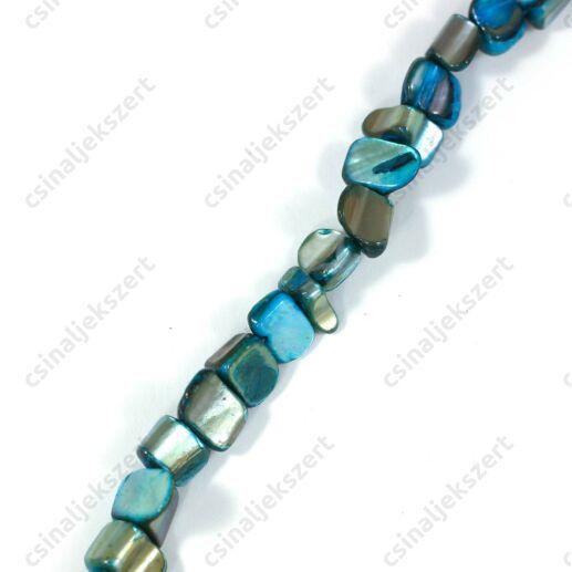 Kék  színű kagyló gyöngy