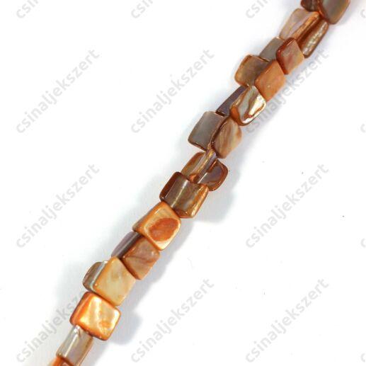Narancs színű kagyló gyöngy