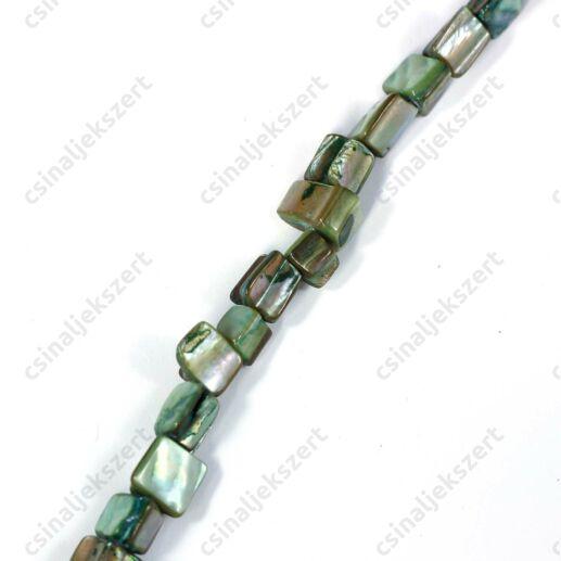 Zöld színű kagyló gyöngy