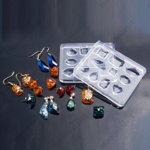10 részes kis drágakövek szilikon öntőforma
