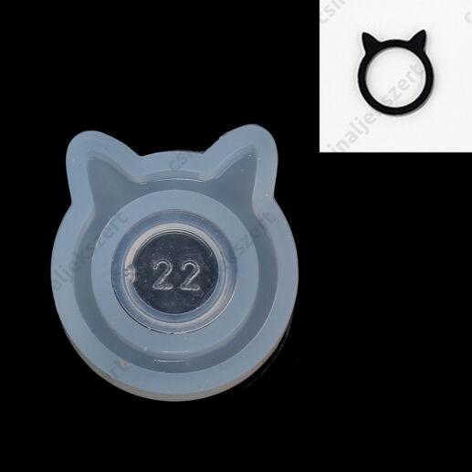17 mm Cicafüles gyűrű szilikon öntőforma