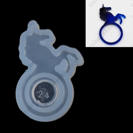 17 mm Unikornisos gyűrű szilikon öntőforma