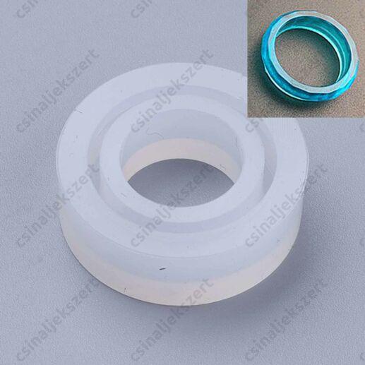17 mm Csiszolt felületű,  domború Gyűrű szilikon öntőforma (7-es méret)