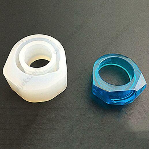 17 mm Gyémánt tetejű gyűrű szilikon öntőforma